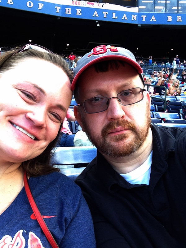 Kimberly and I at our first Atlanta Braves game