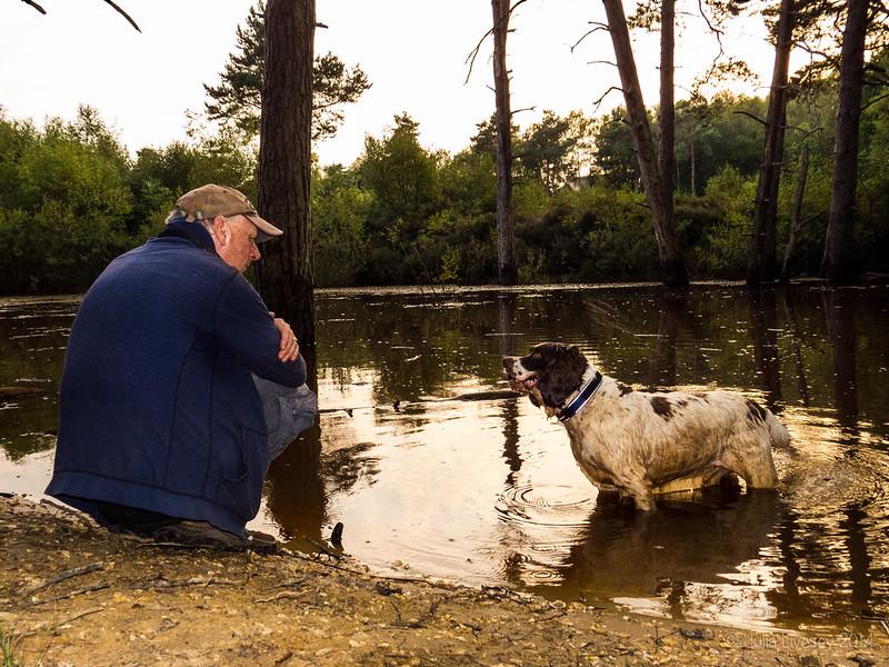 Chris and Max at the lake