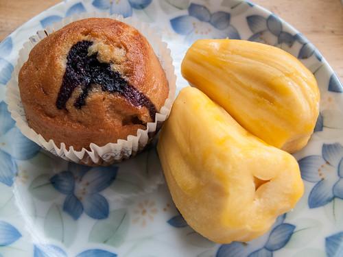 005 Blueberry muffin and jackfruits