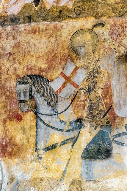Peintures (XVe s.) abbatiale Saint-Léger d'Ébreuil (Allier, France)