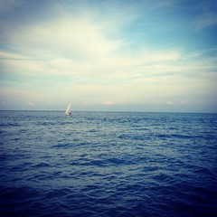 A beautiful night for sailing in Chicago! #lakemichigan #sailing #chicago