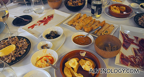 Mind you, these are just the tapas!