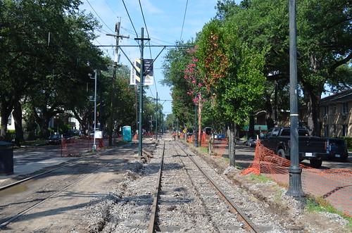 Rail tie work