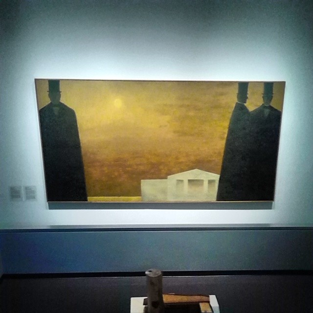 Charlottetown Revisited, 1964,  by Jean-Paul Lemieux,  Confederation Centre of the Arts Gallery,  Charlottetown #princeedwardisland #pei #charlottetown #confederationcentre #confederationcentreoftheartsgallery #jeanpaullemieux #charlottetownrevisited