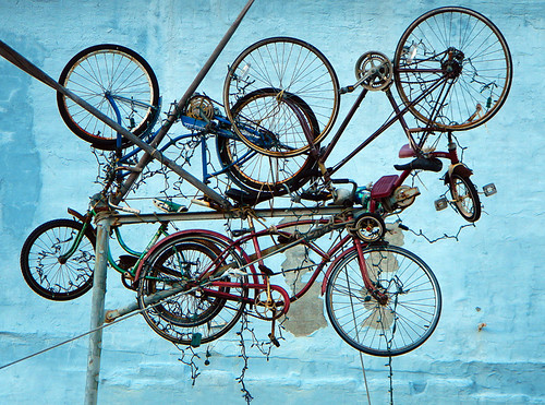 Port Townsend: Old Bicycle Art