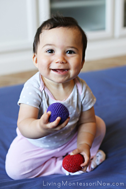8 Month Old Toys Yarn : Activities for babies and toddlers using yarn balls