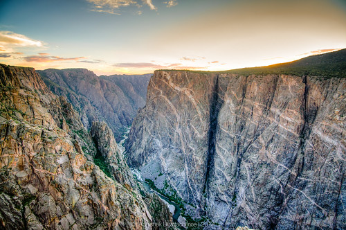 sunset landscape nationalpark colorado gunnison blackcanyonofthegunnison paintedwall