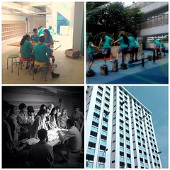 Our many learning spaces today. Thanks for an amazing first two days, @cpsillides. Precious. #service #uwcsea_east