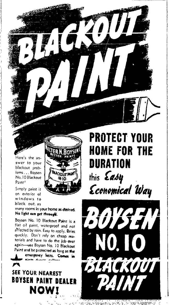 blackout paint dec 1941