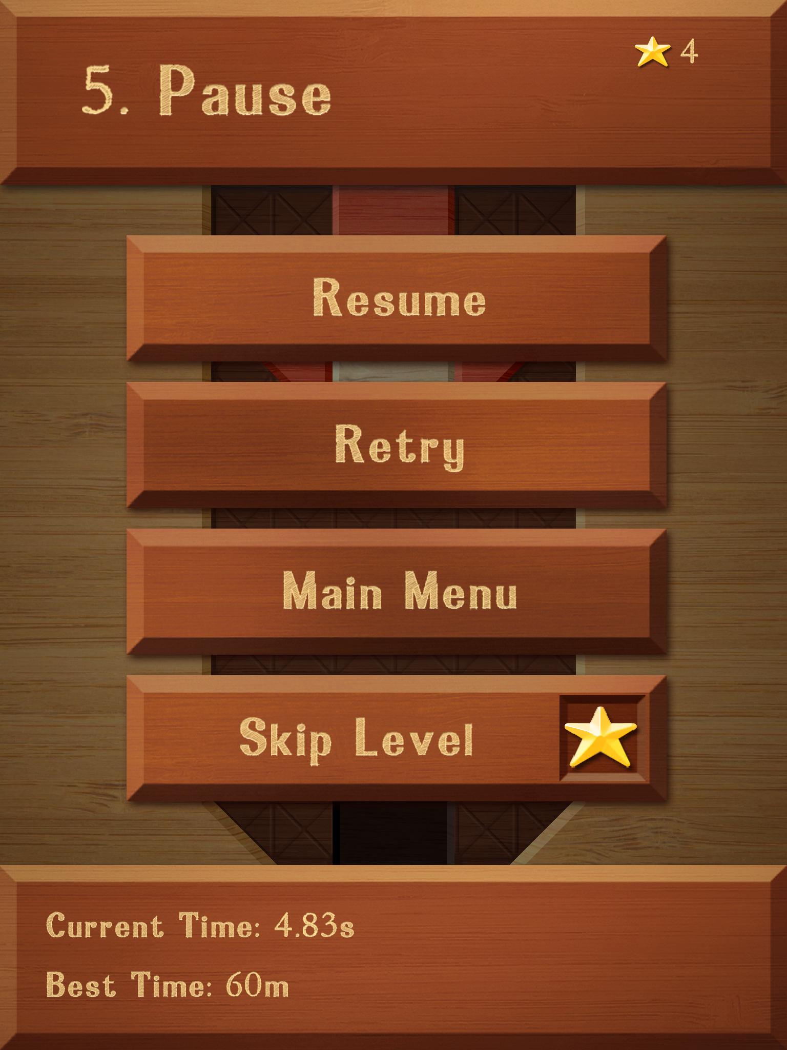 Pause Menu - mobile games UI/UX design, mobile games