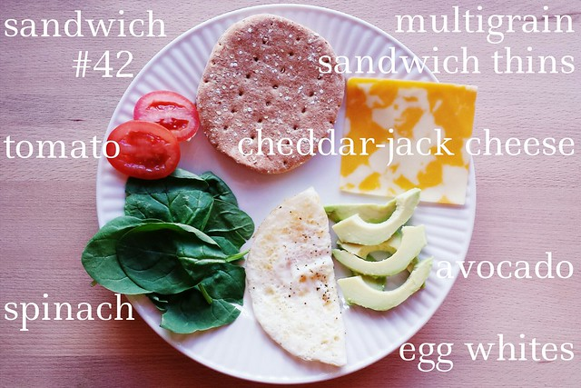 sandwich no. 42: egg white, avocado, & spinach power sandwich