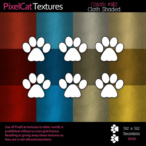 PixelCat Textures - Colab 102 - Cloth Shaded