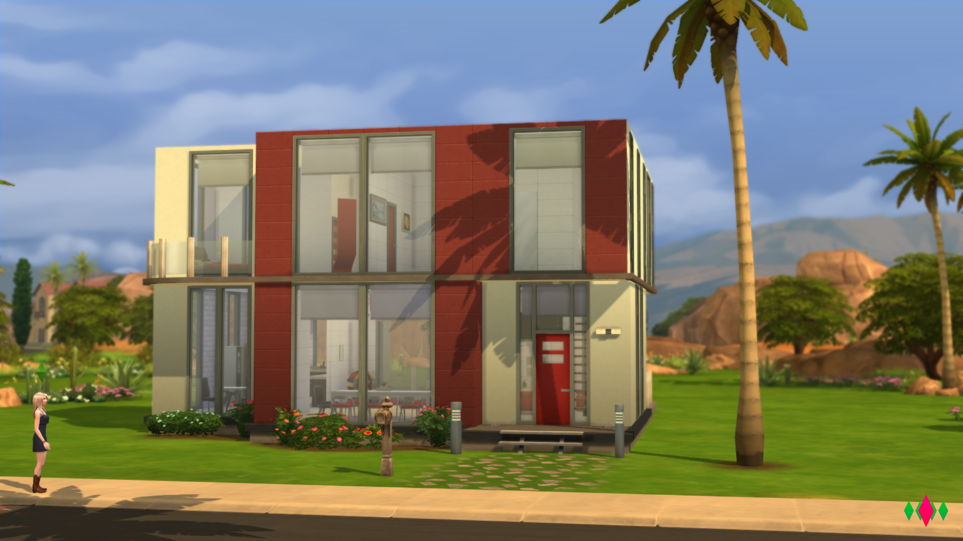 Creators camp modo construir comprar de los sims 4 en for Casas modernas sims 4 paso a paso
