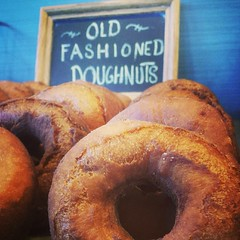 Today's donuts - good old double fried crispy old fashioned!