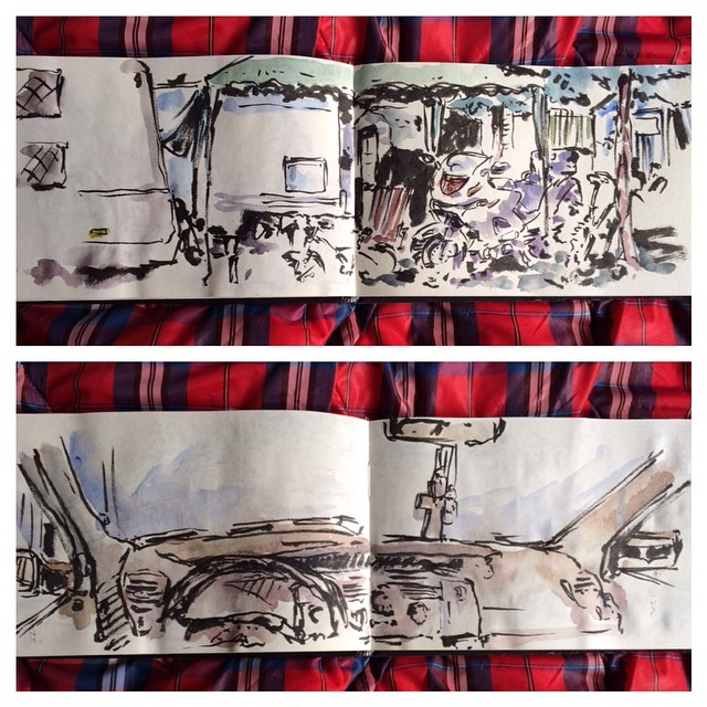 #iratxe #urbansketch #pentel #watercolor