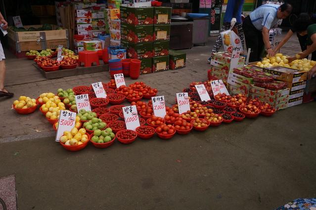 Fruit street vendors