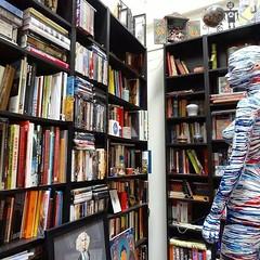 """A room without books is like a body without a soul."" Marcus Tullius Cicero #avatar #acomfortableskin #sculpture #mixedreality #digital #installation #secondlife #breweryartwalk #whereartlives #breweryartlofts #artist #contemporaryart #dtla #losangeles #b"