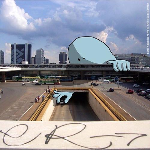 ruas de Brasília Plano Piloto arquitetura arte artes gráficas intervenção artística blog da jornalista Adriana Paiva