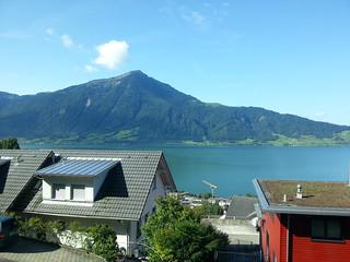 Walchwil breakfast view.
