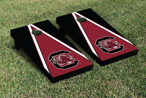 South Carolina Gamecocks Cornhole Game Set Triangle Version