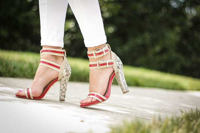 va darling. dc blogger. virginia personal style blogger. dc style.  white jeans. red strappy heels. pour la victoire heels. 1