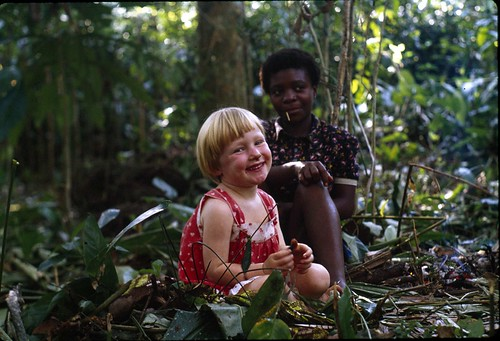 Musilianji and Sarah in forest - 1981