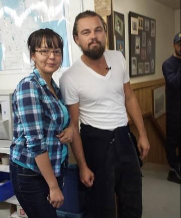 Leonardo DiCaprio and Pam Gibot