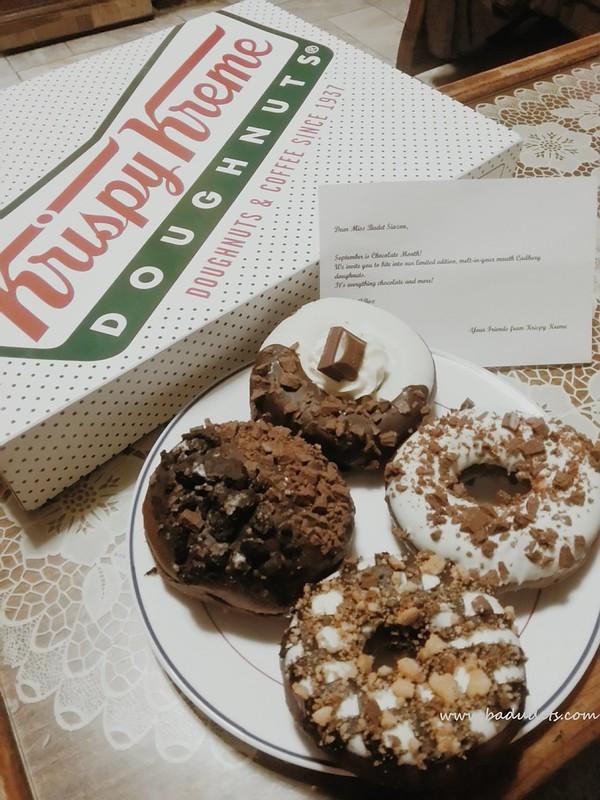 Krispy Kreme Limited Edition Cadbury doughnuts