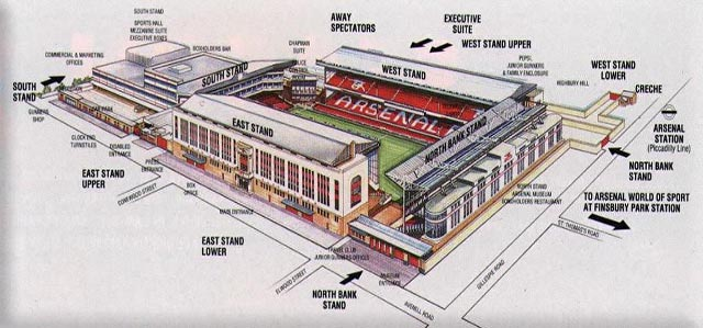 Arsenal history love everton forum breaking news and for Emirates stadium mural