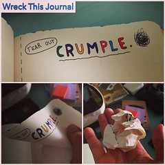 Tear out and crumple. #wreckthisjournal @intrepidteacher