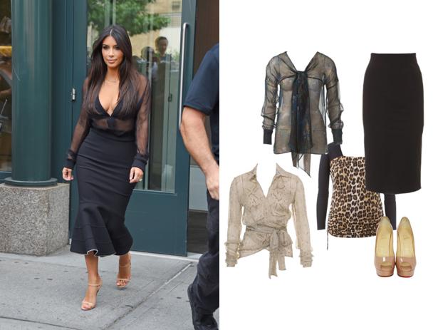 Kim Kardashian style sheer