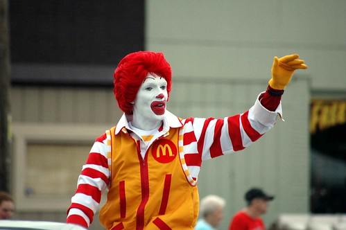 Ronald McDonald needed a Happy Meal.