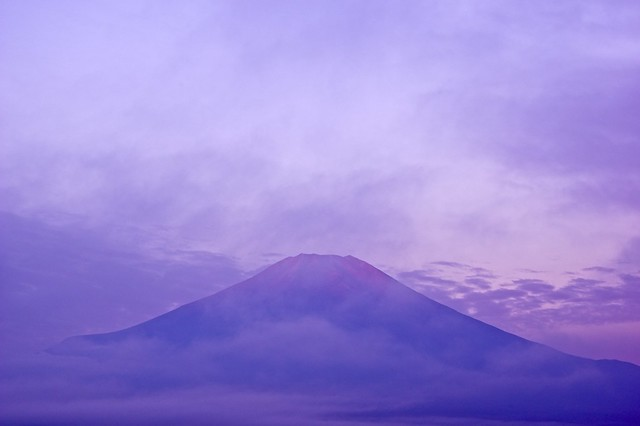 Mt. Fuji going slightly pink
