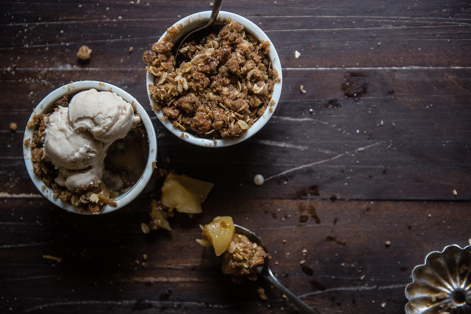 Brown butter cheddar apple crumbles for two, for Verily Magazine.