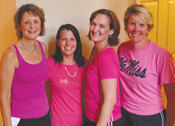 Breast Friends: Lu Ann Schratter, Michelle O'Shaughnessy, Christy Mire and Kathryn Fant. Not pictured: Pam McTeer, Maureen Ussellton and Robin Kirkman.
