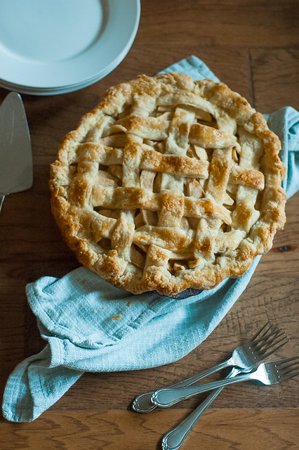 Delicious classic apple pie inside our easy flaky pie crust. A perfect fall combination! Easy step by step lattice instructions too!