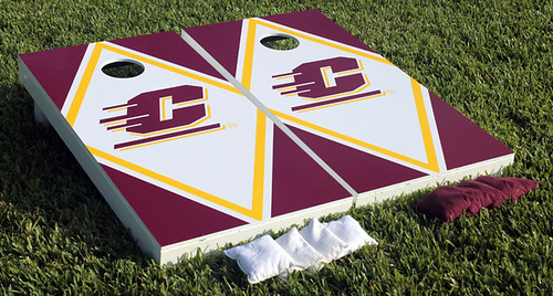 Central Michigan Chippewas Cornhole Game Set C Diamond Wooden