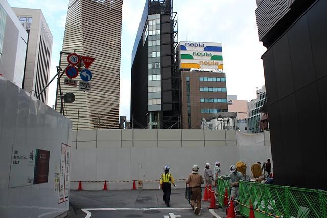 土浦亀城作の三原橋センター解体中 (18)