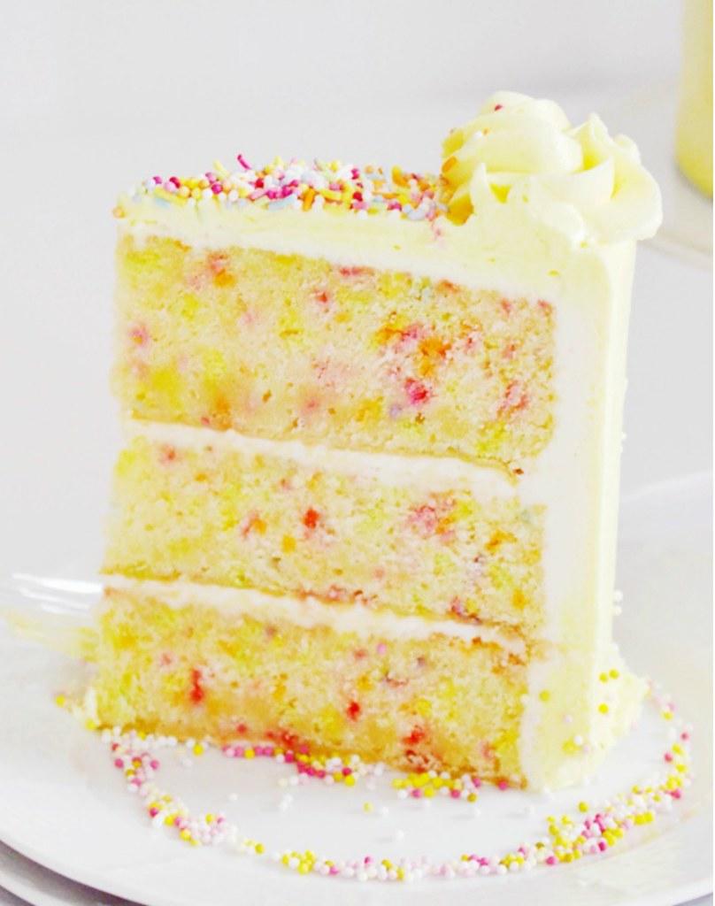 confetti vanilla cake