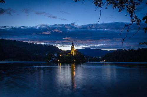 Good night Bled Lake