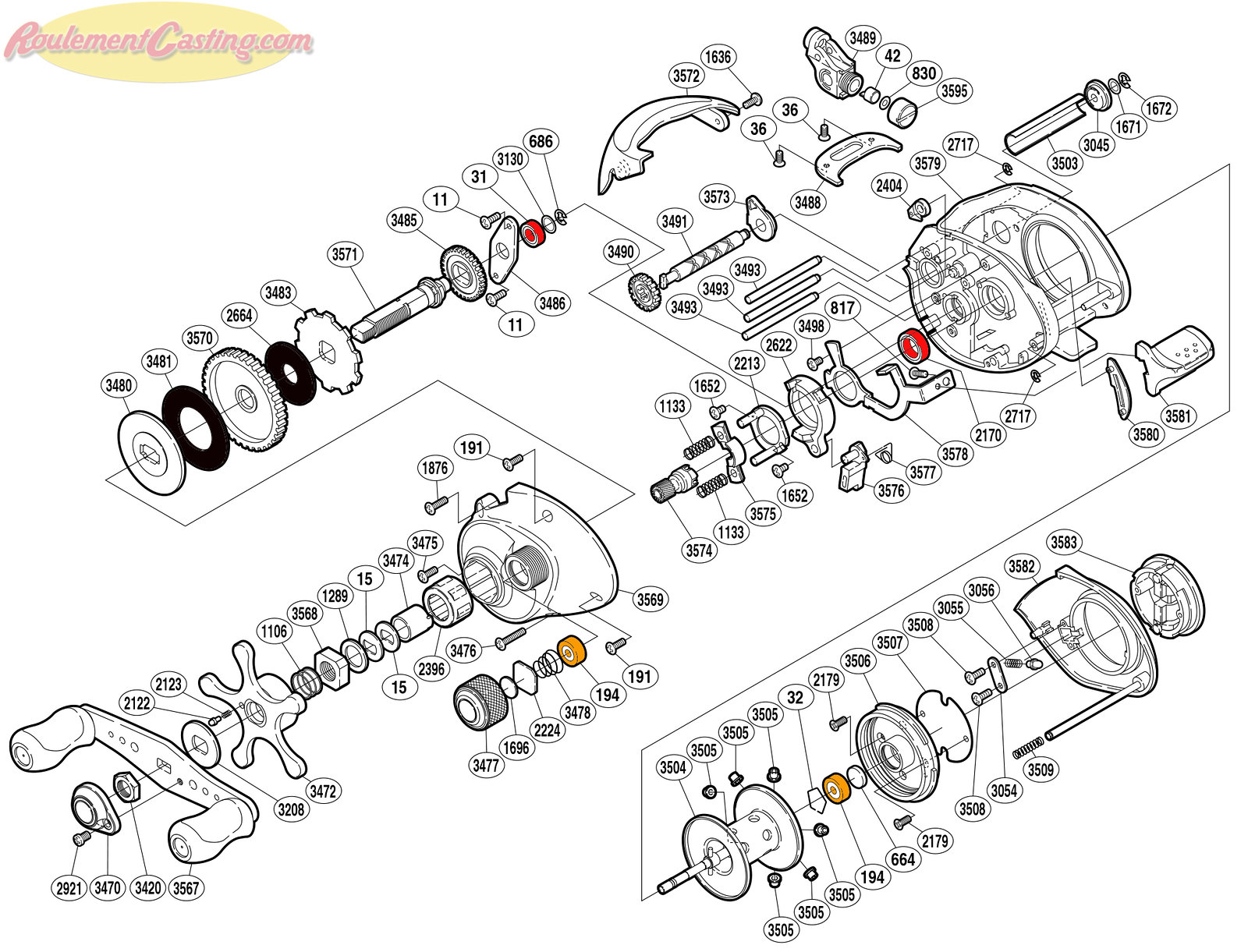 Schéma Shimano 06' Citica 201D