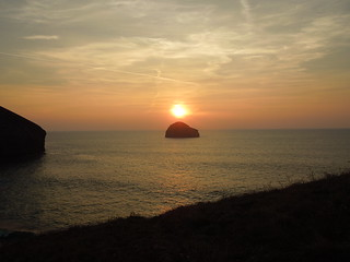 14 09 22 Day 10 12 Sunset over Trebarwith Strand