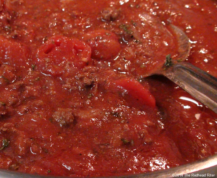 fresh tomato sauce cooking spaghetti burger venison deer
