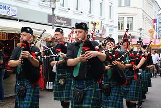 Dudelsackspieler aus Schottland auf dem Stadtfest in Unna