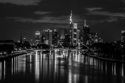 Frankfurter Skyline Black and White