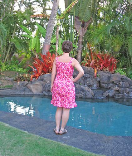 pink marfy dress back