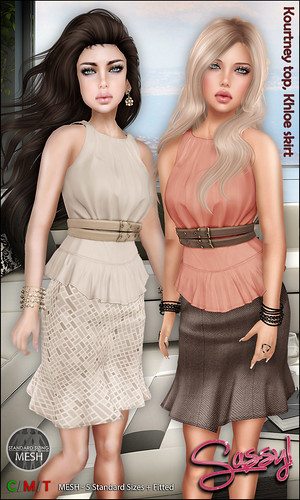 Kourtney top and Khloe skirt