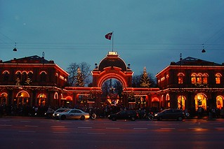 Main Entrance to Tivoli Gardens, Copenhagen, Denmark