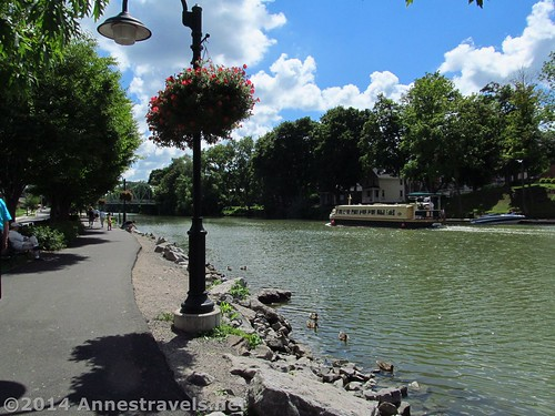 The Erie Canal Path in Pittsford, New York