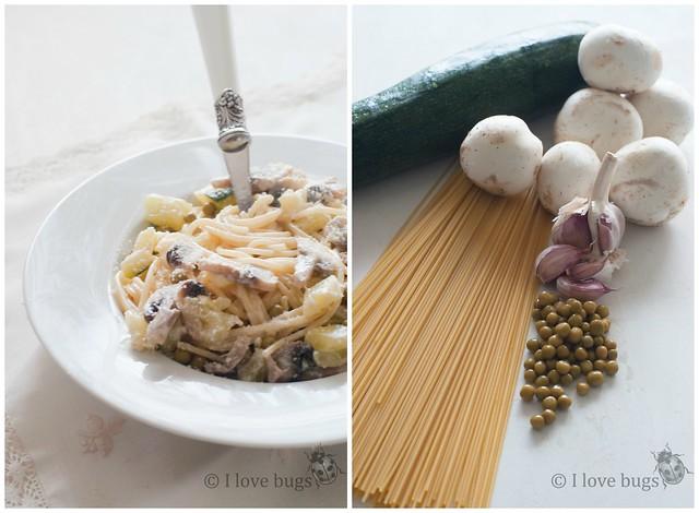 Pasta con verduras 2 Collage